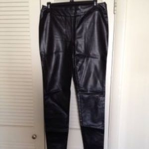 Petticoat Alley Faux Leather Leggings Pants